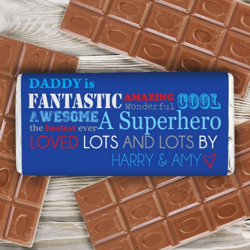 Personalised He Is chocolate bar
